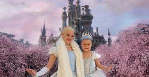 Isabella Harvey and her bald princess