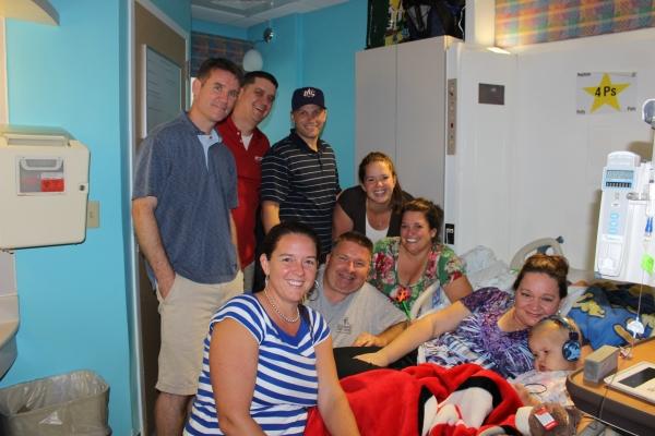 AJ hospital room